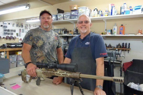 Shawn and Bob Carlock with a LRKM.